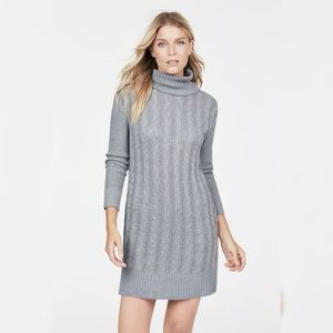 JustFab Grey cable knit sweater dress